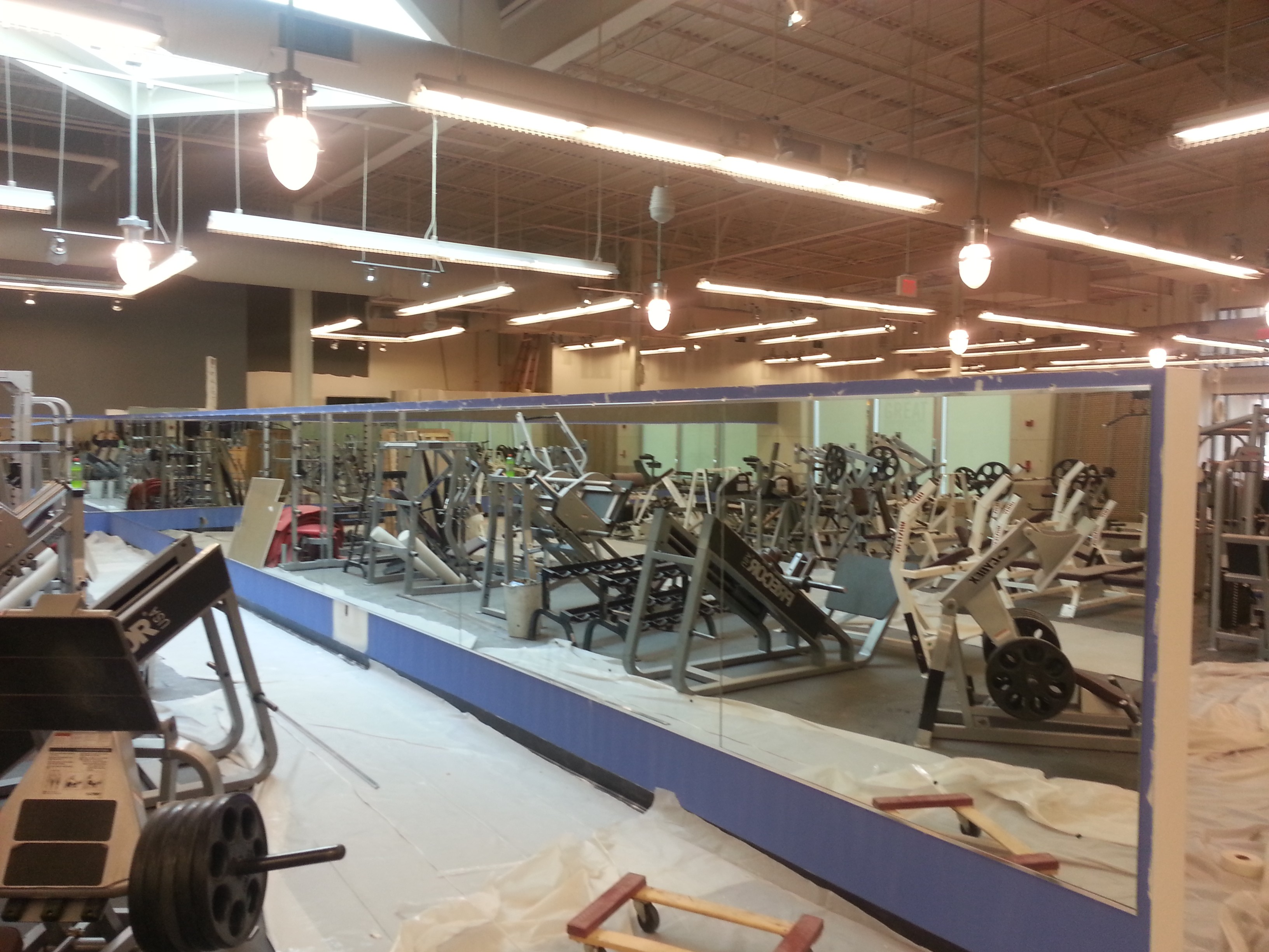 Golds Gym Wall Mirrors Installed By Ace Gl