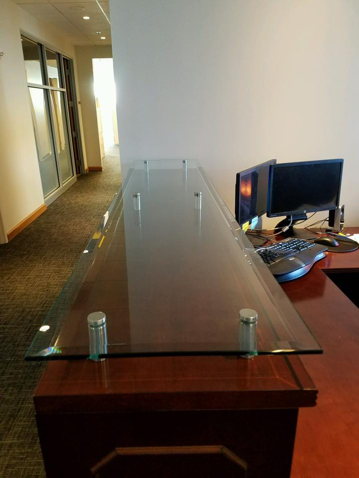 Tabletop Glass Desk Glass Ace Glass - Glass tops for bedroom furniture